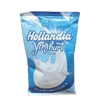 Hollandia Yoghurt Plain Sweettened Sachet  100ml X 24