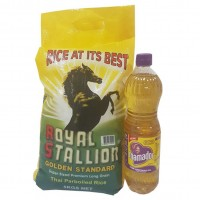 Rice 5kg  and oil 900ml Bundle