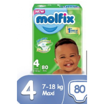 Molfix Diaper size 4 pant by 80 count
