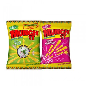 MUNCH IT - Sweet Surprise & Sour Cream & Onion (22g x  84 sachets) carton