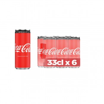 Coca Cola Zero Can (33cl x 6)