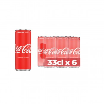Coca Cola Can Drink (33cl x 6)
