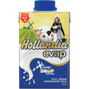 Hollandia Evap (Full Cream Evaporated Milk) 190g
