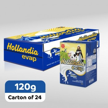 Hollandia Evap Full Cream Evaporated Milk  (120g x 24)carton