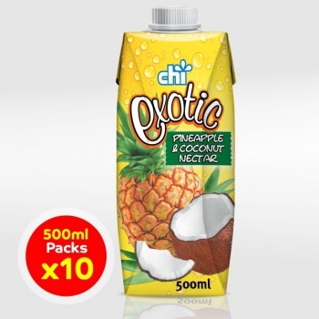 Chi Exotic Pineapple & Coconut Nectar 500ml x 10 (Carton)