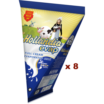 Hollandia Evap Full Cream Evaporated Milk (65g x 8)