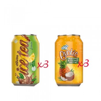 2 in 1 Chi Combo  - ICE TEA & EXOTIC CAN (33cl x 3 x 3)