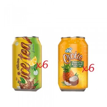 2 in 1 Chi Combo  - ICE TEA & EXOTIC CAN (33cl x 6 x 6)