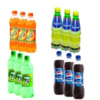 Bundle Pack of Pet Drinks 4 in 1 (Mirinda, Fayrouz, 7up & Pepsi)