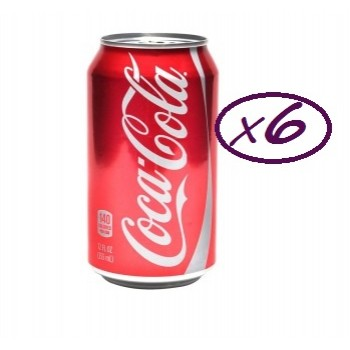 Coca Cola Can Drink  33cl x 6