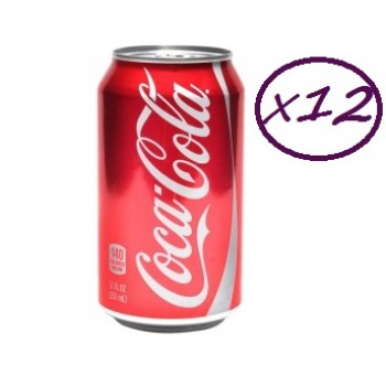 Coca Cola Can Drink  33cl x 12