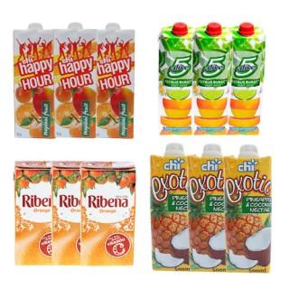 Fruit Juice Bundle (5alive, happy hour, Ribena & Chi Exoctic)