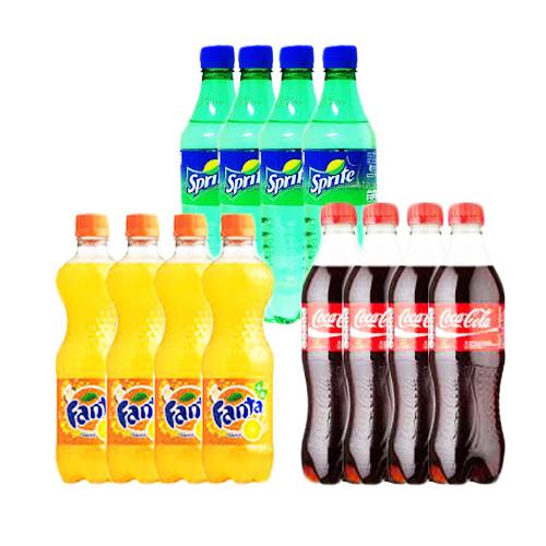 Bundle Pack of Pet Drink 3 in 1 ( Coke, Sprite & Fanta)