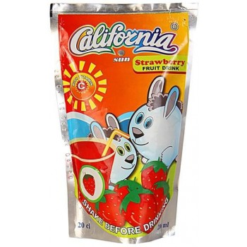 California Sun Strawberry  (200ml x 40) carton