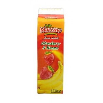 Maccaw Drink Strawberry-Banana 1ltr