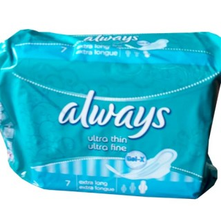 Always Sanitary Pad Single Blue(7)