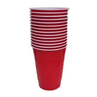 Red Plastic Cups by 24