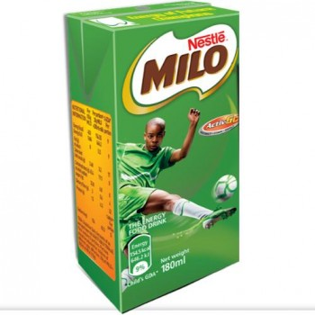 Milo Energy Food Drink   Child's GDA -180ml plus g/m puff 50g x 5