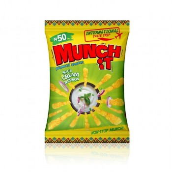MUNCH IT - Sour Cream & Onion  (22g x 84 sachets) carton