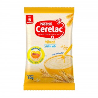 Cerelac Wheat with Milk (80 x 50g) carton - Baby Cereals after 6months