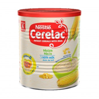 Cerelac Maize with Milk (12 x400g) carton - Baby Cereals after 6months