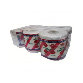 Rose Toilet Tissue Pack of 6
