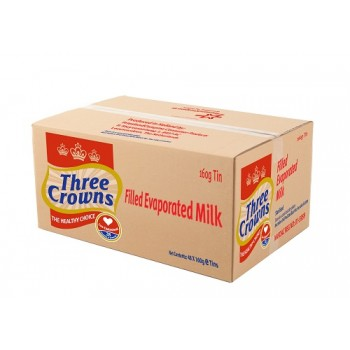 Three Crowns Evaporated Milk tin 160g  x 48