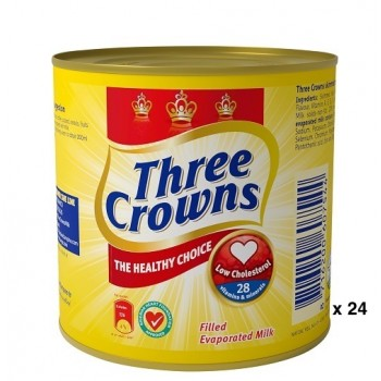 Three Crowns Evaporated Milk tin 160g  x 24