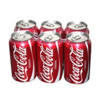 Canned Coke 33cl Pack x6