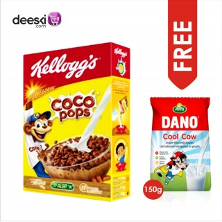 COCO POPS - Kellogg's (400g )with FREE DANO COOL COW MILK 150G