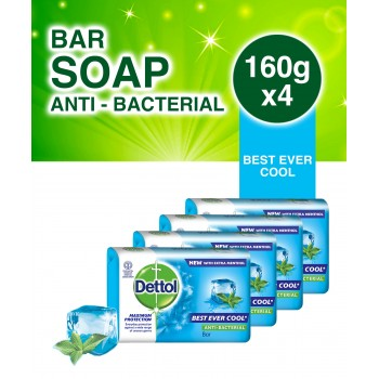 Dettol Soap Cool (160g x 4)