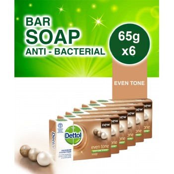 Dettol Eventone Bathing Soap  65g x 6
