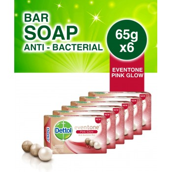 Dettol Eventone Pink Glow Bathing Soap  65g x 6