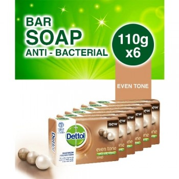 Dettol Eventone Bathing Soap 110g x 6