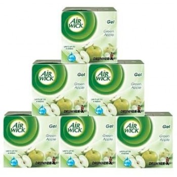 Air Wick Drummer Freshener Gel (50g x 6) - Green Apple