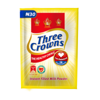 Three Crowns 12g Plain Powdered Milk (12g x 10)
