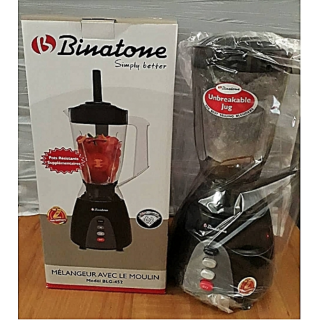 Binatone Blender With Grinder BLG-452 Black