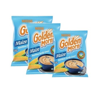 Golden Morn 500g x 2  with  free g/m puff 50g x 5