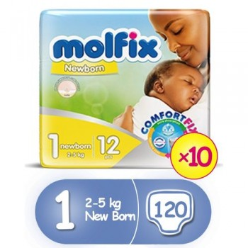 Molfix Diaper size 1 by 12 x 10 (carton)