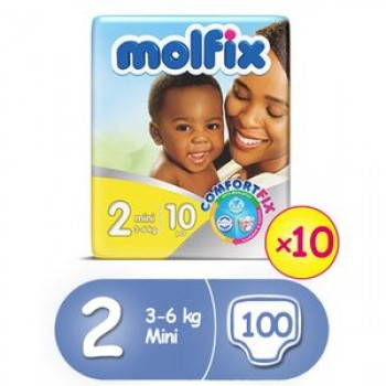 Molfix Diaper size 2 by 10 x 10 (carton)