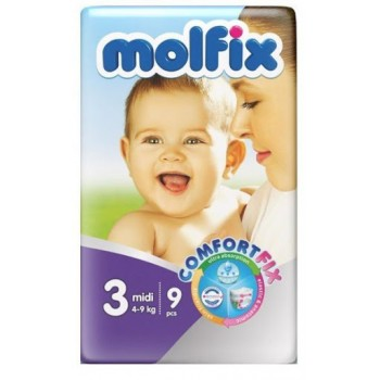 Molfix Diaper size 3 by 9