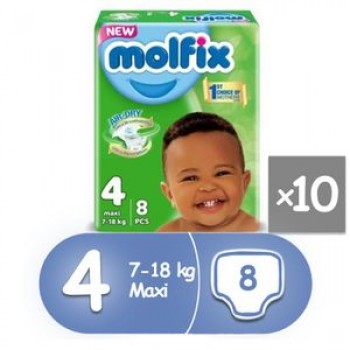 Molfix Diaper size 4 by 8 x 10 (carton)