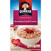 Quaker Oat Strawberries And Cream Flavour