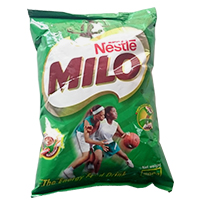 Milo  Refil (1kg x 2) With free 50g Golden morn puff x 5