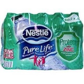 Nestle Pure Life  Water with Zinc 60cl x 20