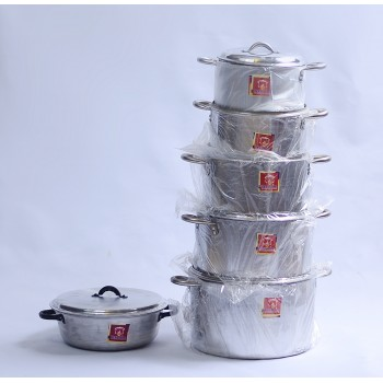 Cooking Pot - Set of 5 (16,18,20.22,24)cm, with Sauce Pan