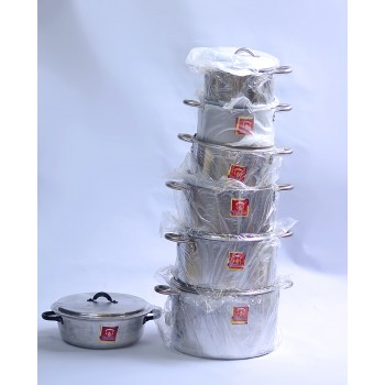 Cooking Pot - Set of 6 (16,18,20.22,24,26)cm, with Sauce Pan