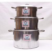 Cooking Pot - Set of 3 (18,21.23,)cm