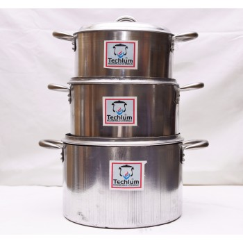 Cooking Pot - Set of 3 (18,21.23,)cm