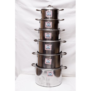 Cooking Pot - Set of 6 (16,18,20.22,24,26)cm